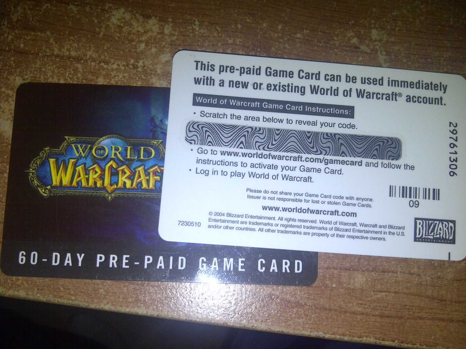 World of Warcraft 60 days Time Card Prepaid EU &#65517