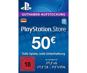 PSN Gift Card Code DE €50 EUR for PS4, PS3, PS Vita