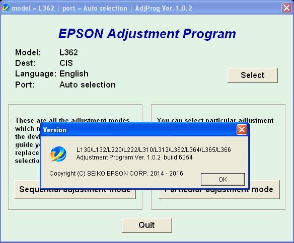 ADJUSTMENT PROGRAM EPSON L364 СКАЧАТЬ БЕСПЛАТНО