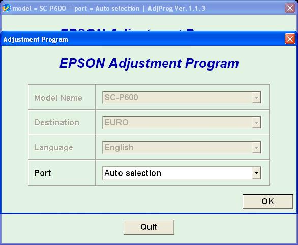 Reset counter epson p50 software