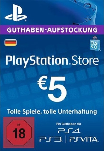 PlayStation Network card 5 EUR (DE)