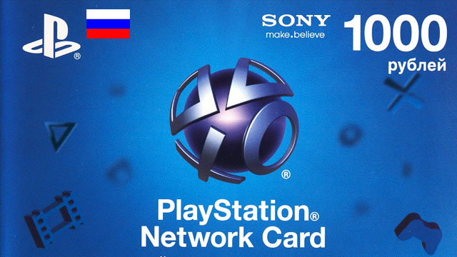 PSN PlayStation Network 1000 RUB (RU) Official key