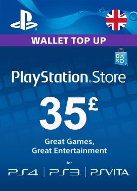 PSN CARD UK £35 GBP for the PS4, PS3, PS Vita