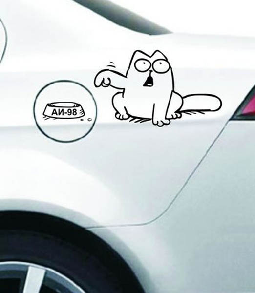 Stickers on cars. Set vector №1.