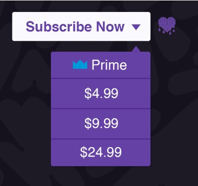 Twitch Gift Subscriptions to any channel 1-3 level