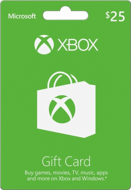 Xbox Microsoft 25$ Gift Card (USA) - Opening Discount