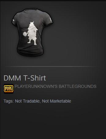 DMM T-SHIRT PUBG (STEAM code)&#128293