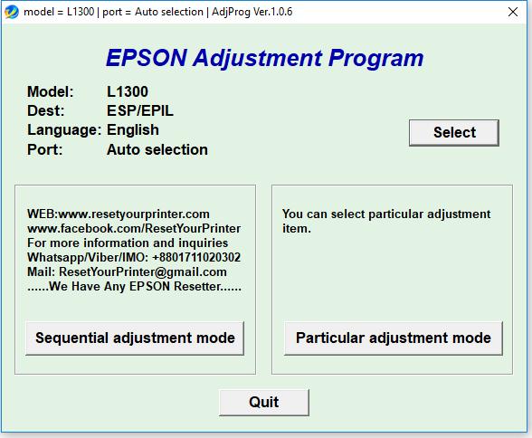 ADJUSTMENT PROGRAM EPSON L110 СКАЧАТЬ БЕСПЛАТНО