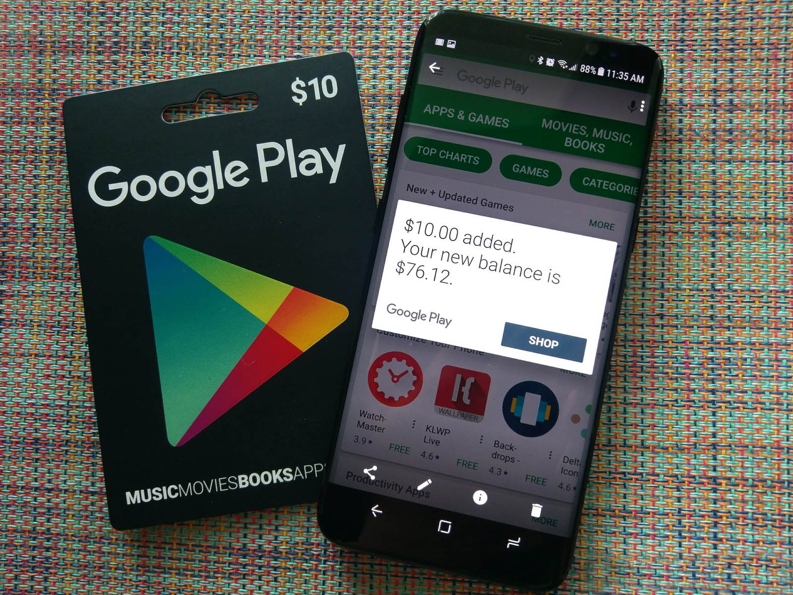 Google Play Gift card - 10$ USA