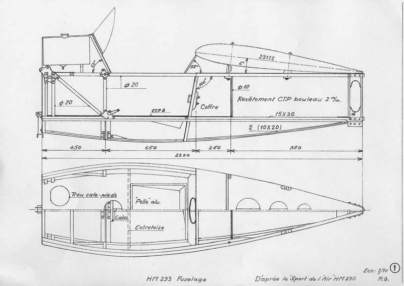 You Aviator. Чертежи самолета Le HM-293