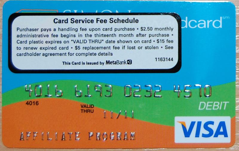 Prepaid Visa Gift Card - $2 Metabank US