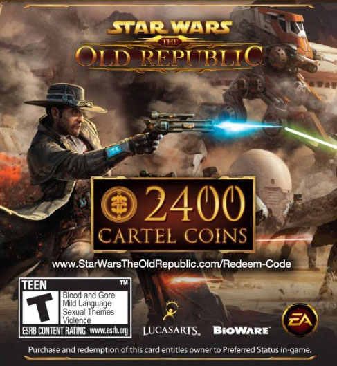 STAR WARS THE OLD REPUBLIC 2400 CARTEL COIN CARD GLOBAL