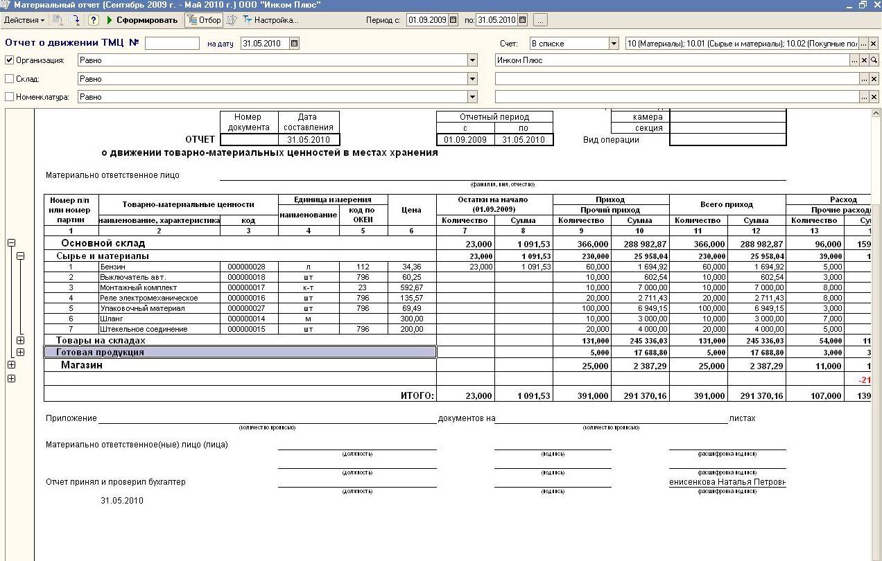 Отчет по форме MX-20 и МХ-20а для 1С БП 8.1-8.2