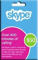 Skype Prepaid Card 50 USD (USA/CODE) + СКИДКИ