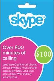 Skype Prepaid Card 100 USD (GLOBAL/CODE) + СКИДКИ