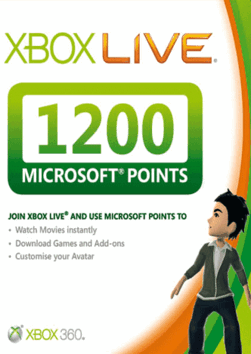 Купить XBOX LIVE - EU/RU/CODE - Карта 1200 points + 48ч GOLD 1200 MS Points (RU/EU) + 48ч Gold