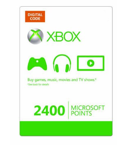 Купить XBOX LIVE - EU/RU/CODE - Карта 2400 points + 48ч GOLD 2400 MS Points (RU) + 48ч Gold
