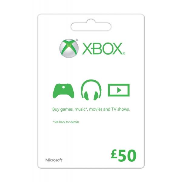 Купить XBOX LIVE - UK/CODE - Карта 50£ + 48ч GOLD Карта 50 GBP (UK) + 48ч Gold