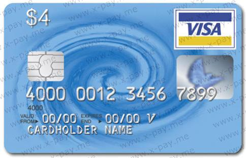 4 $ VISA VIRTUAL + Express check, ONLINE 3DS. PRICE