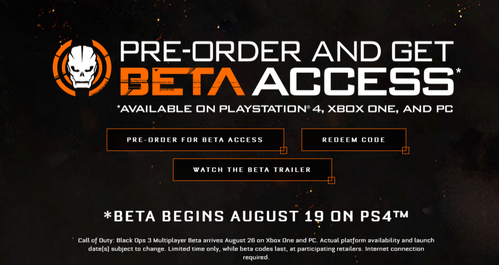 Call of Duty: Black Ops III - EARLY ACCESS CD KEY