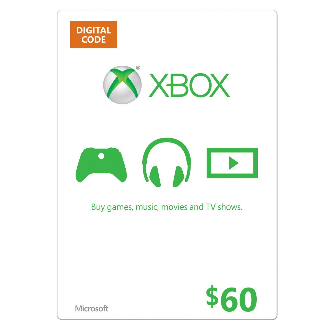 Xbox Live Gift Card USA $60 (code from card) + DISCOUNT