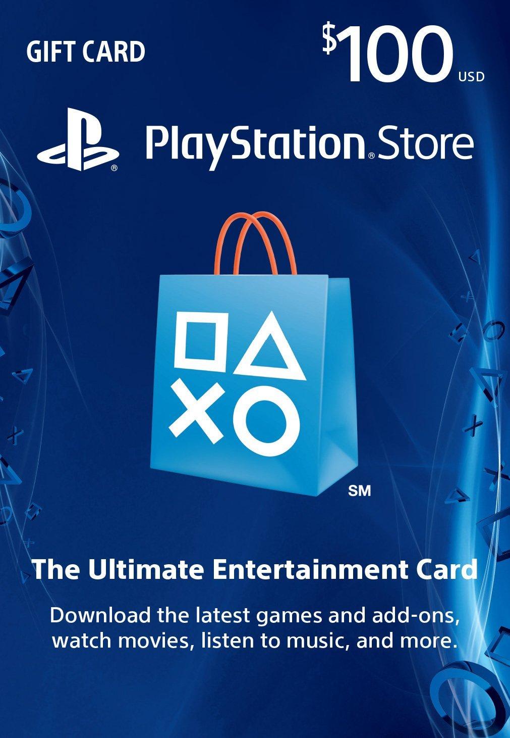 PSN Gift Card Code USA $ 100 for PS4, PS3, PS Vita