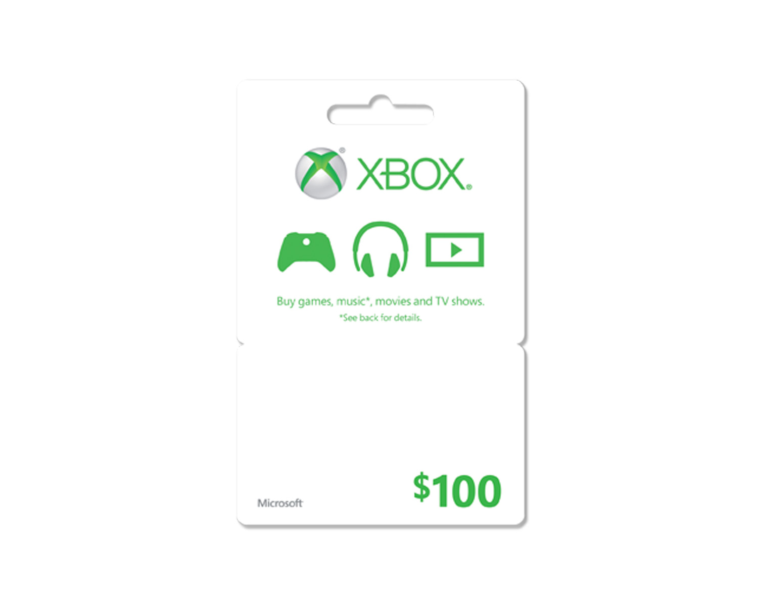 Xbox Live Gift Card USA $100  (Code from card)