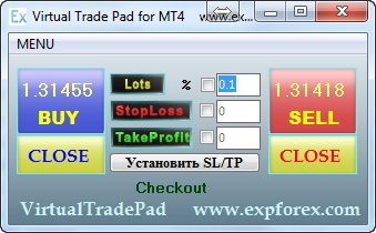 Forex Trading by one click. The simulator MT4