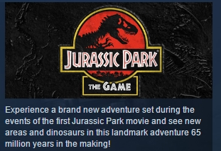 Jurassic Park: The Game (STEAM KEY region free)