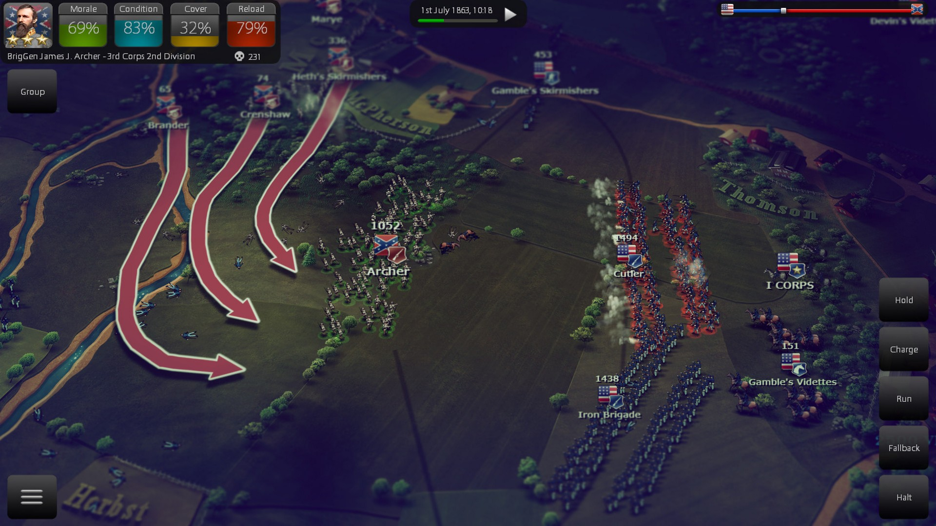 Ultimate General Gettysburg (STEAM KEY REGION FREE)