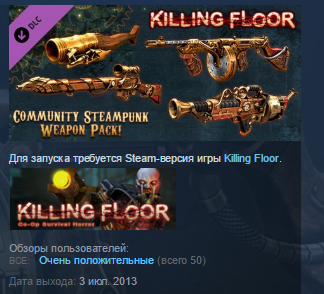 Killing Floor Community Weapon Pack 2 DLC STEAM GLOBAL