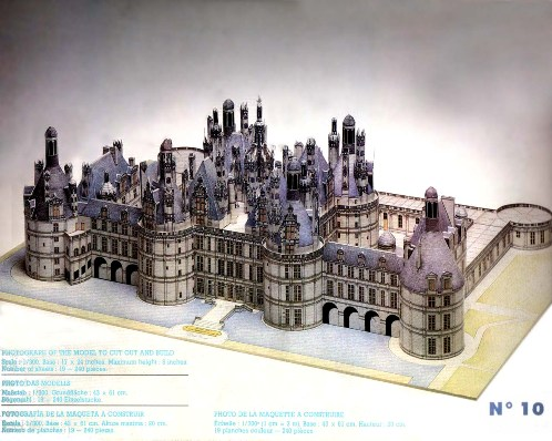 Chateau de Chambord - Model for assem