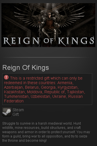 Reign Of Kings (Steam Gift/RU CIS) + подарок