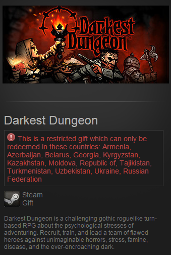 Darkest Dungeon (Steam Gift/RU CIS)