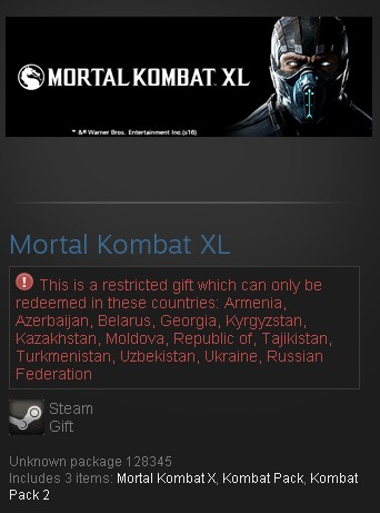 Mortal Kombat XL (MK + Kombat Pack 1,2) (Steam/RU CIS)
