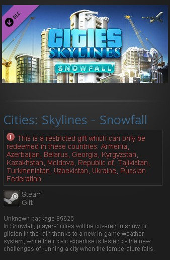 Cities: Skylines - Snowfall DLC (Steam Gift/RU CIS)