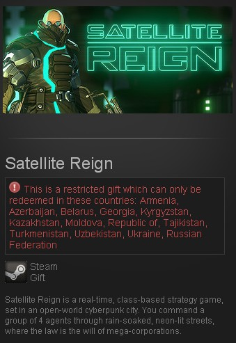 Satellite Reign (Steam Gift/RU CIS)