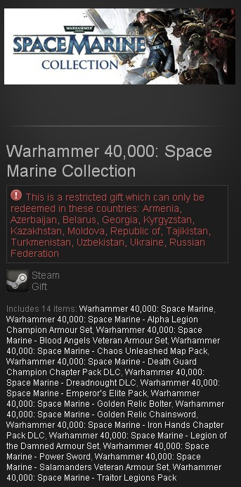 Warhammer 40,000: Space Marine Collection (Steam /RU)