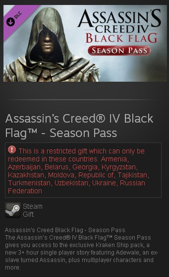 zAssassin's Creed IV Black Flag - Season Pass (Steam RU
