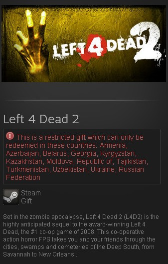 Left 4 dead 2 Nosteam
