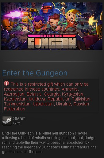 Enter the Gungeon (Steam Gift/RU CIS)