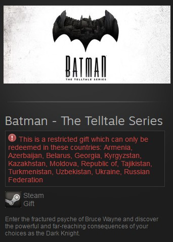 Batman - The Telltale Series (Steam Gift/RU CIS)
