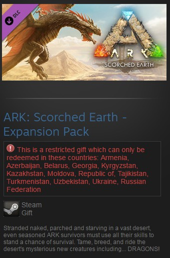 ARK: Scorched Earth - Expansion Pack DLC (Steam/RU CIS)