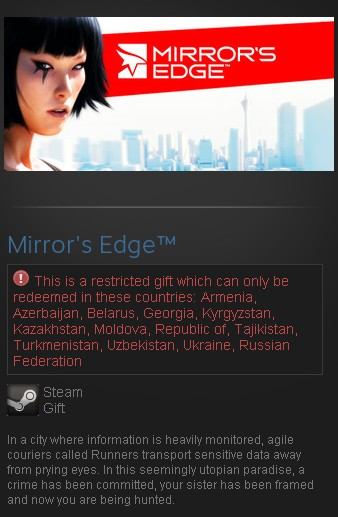 Mirror´s Edge (Steam Gift/RU CIS) + подарок