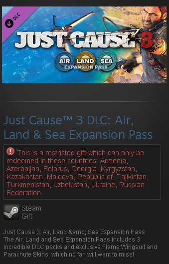 Just Cause 3: Air, Land & Sea Expansion Pass DLC (RU)