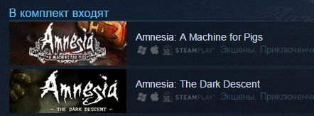 Amnesia Collection (Steam Gift/RU CIS)