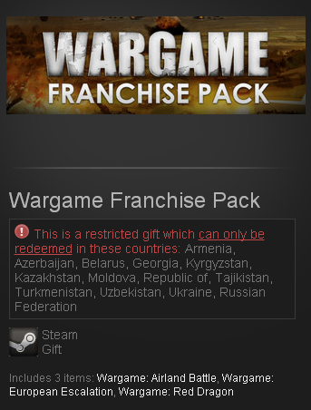 Wargame Franchise Pack (Steam Gift/RU CIS)