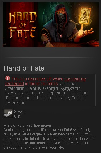 Hand of Fate (Steam Gift/RU CIS)