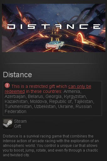 Distance (Steam Gift/RU CIS)