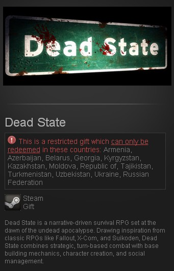 Dead State: Reanimated (Steam Gift/RU CIS)